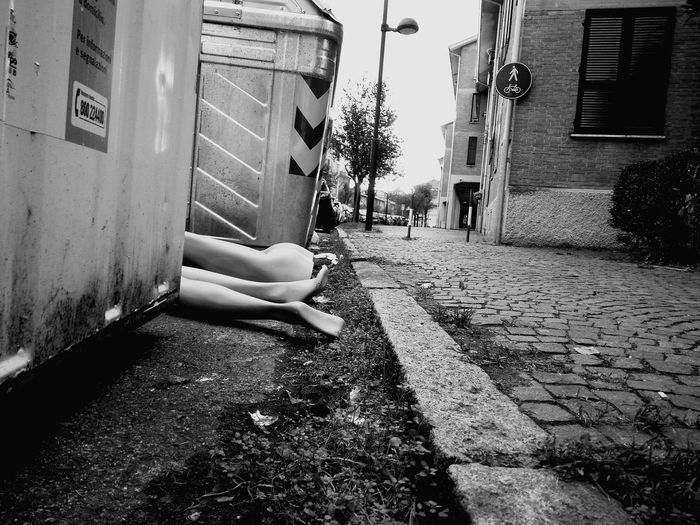 Black And White Friday Legs Outdoors Road