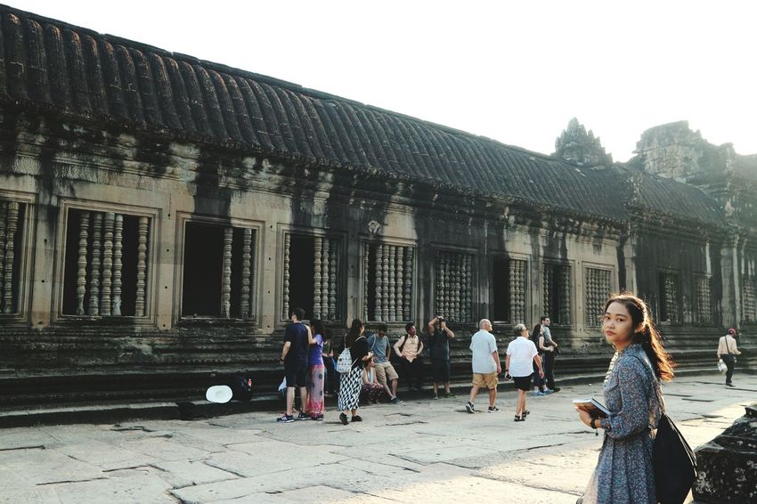 Architecture History Built Structure Travel Destinations Vacations People Cambodia Angkor Wat Beauty In Nature Women Around The World Girl Vietnamese