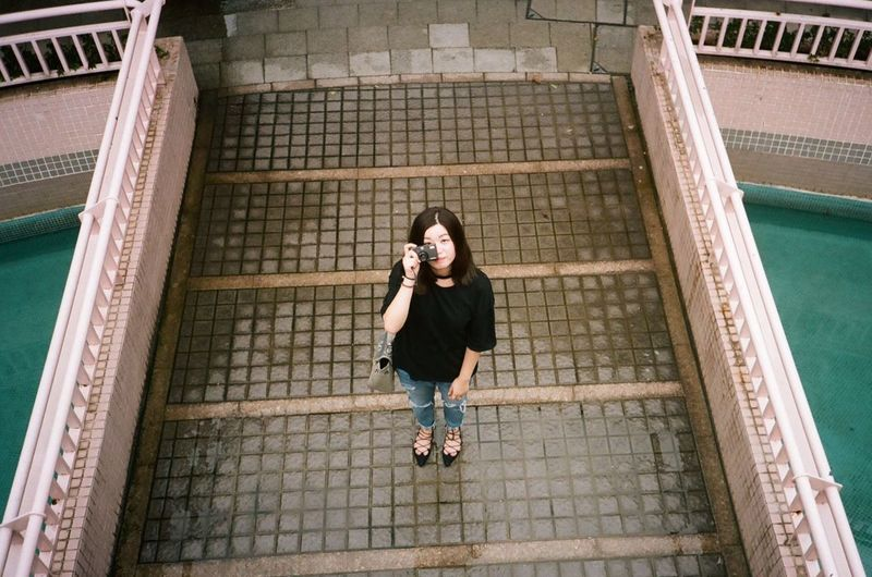 Me 😉😉 HongKong Leisure Activity Portrait Young Adult Casual Clothing OpenEdit Weekend 35mm Streetphotographer Outdoors No People Day Selfienotselfie