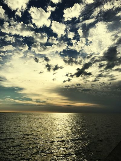 Sea Sunset Scenics Cloud - Sky Water Nature Sky Reflection Tranquility clouds