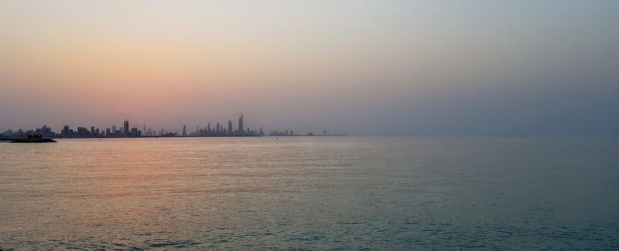 Sunset, Salmiya, Kuwait Sea Business Sunset Water Nautical Vessel Fog Business Finance And Industry Cityscape Harbor Sky Seascape Horizon Over Water Wave Skyscraper Rushing Container Ship Calm Coast EyeEmNewHere