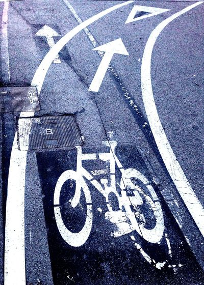 Bicicleta Bicycle Road Sign Bike Path Bike Bike Lane Bike Lane Sign Carril Bici Señal Horizontal Horizontal Signs Road Paint