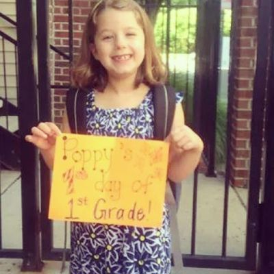 My little girls first day of 1st grade!! She isn't so little anymore!! I love you Emilia Grace Marie ?
