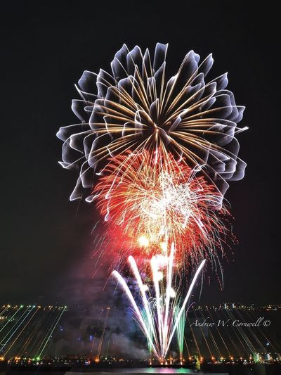 Fireworks Night Lights Photography Long Exposure