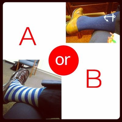 Decisions, Decisions....Coolsocks 2MeAnyway ThatsJustHowIFeel 2Choices WellIAlreadyChose ButWhatUThink RandomButIMissHer Ready4Weekend NoHalloween JustFly JustInCaseYou4got
