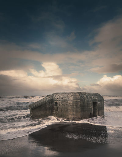 Silent witness of the atlantic wall in Denmark Denmark Architecture Beach Beauty In Nature Built Structure Cloud - Sky Day Horizon Over Water Nature No People Outdoors Scenics Sea Sky Water Wave