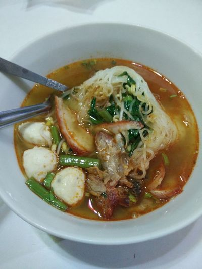 yummy Noodle Thai Noodle Noodle With Soup Narrow Rice Noodlees Spicy Noodle Soup Yummy♡ DeliciousFood  At ร้านท้ายทุ่ง 85/2 หมู่ที่ 2 มะเกลือเก่า สูงเนิน นครราชสีมา ไthailand