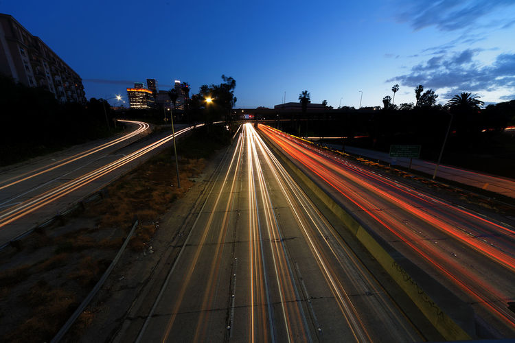 Freeway Light Trails Long Exposure Night Photography Long Exposure Shot Los Angeles Nights