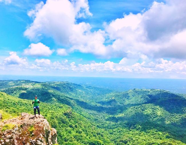 Beauty In Nature Cloud - Sky Hiking Mountain Adventure Scenics Backpack Outdoors Green Color Mountain Range Landscape Pinoymountaineer #hiking #phmountains #bundokph #mountains #nature #travel #mountaineering #hikingadventures #hikingtrail #bundokero #PhilippineMountaineers Eyemnaturelover Phmountains The Great Outdoors - 2017 EyeEm Awards