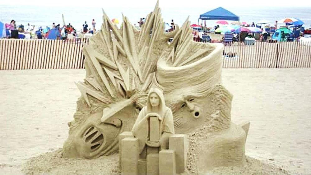 Newhampshire Hampton Beach Sandcastles Sand Beach Travel Destinations Newengland Ocean