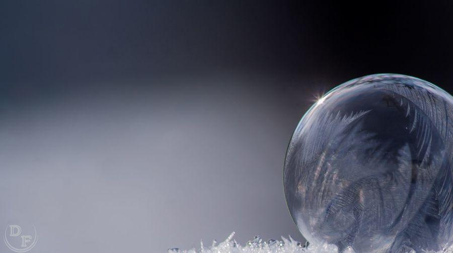 Frozen Soapbubble Saarland 350D EOS Makrografie Gefrorene Seifenblase Winter DonieM Lebach