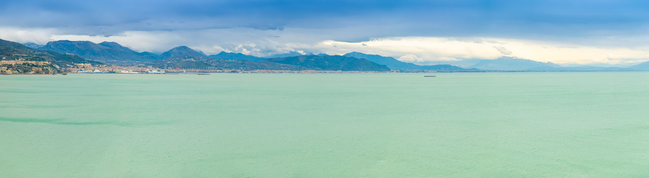 Italy Panorama Beach Sea Coast Coastline Landscape Ocean Cloudy