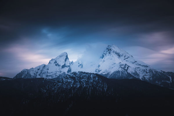 Northern lights in Germany? No - just a long exposure and some luck in the blue hour. The Watzmann is the third highest mountain in Germany with 2.713m. The Watzmann massif also includes his wife (Watzmann Wife) and his five children (Watzmann Children) - these are the name of the lower peaks in the area around. Location: Watzmann, Germany. Equipment: Fujifilm X-T2 + XF18-135 Atmosphere Colors Dark EyeEm Best Shots EyeEm Best Shots - Nature EyeEm Nature Lover EyeEm Selects EyeEm Gallery Light Mystic Watzmann Wave Winter Colorful Forest Germany Landscape Long Exposure Mood Moody Mountain Mystical Peak Sky Snow The Great Outdoors - 2018 EyeEm Awards HUAWEI Photo Award: After Dark