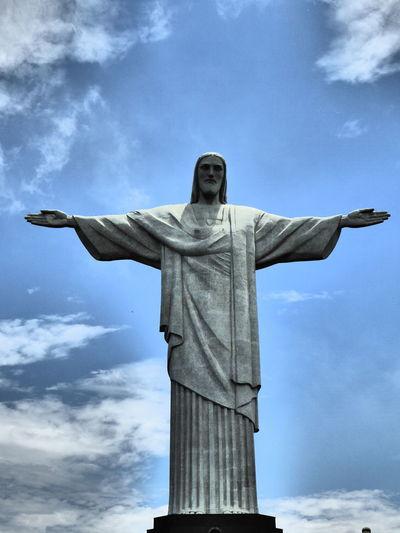 Art And Craft Cristo Redentor-Río De Janeiro Day Outdoors Religion Rio De Janeiro Statue