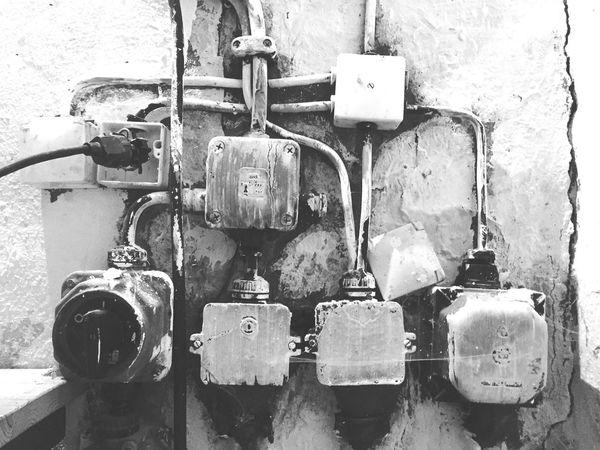 Electricity  Old Vintage Retro Voltage Power Supply Blackandwhite Black And White Black & White Blackandwhite Photography