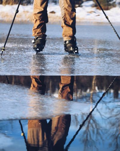 EyeEm Selects Low Section Human Leg Water Real People Shoe Body Part Reflection Human Body Part Standing Lifestyles Wet Men Nature Day Puddle People Leisure Activity Unrecognizable Person Outdoors Motion