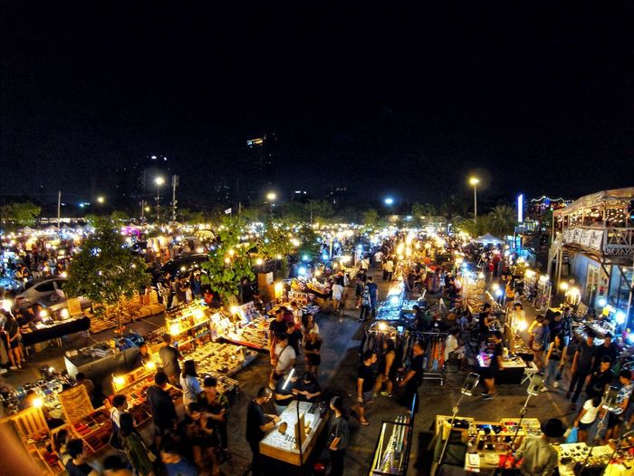 JJ Green market Night Illuminated City Architecture Crowd High Angle View Building Exterior Nature Sky City Life Nightlife Lighting Equipment Cityscape Built Structure Large Group Of People Group Of People Real People Outdoors Crowded Street