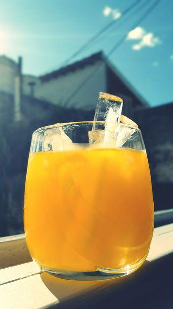 Cold Beverages Glass Colors Refresh Refreshment Fresh Orange Orange Juice  Orangejuice