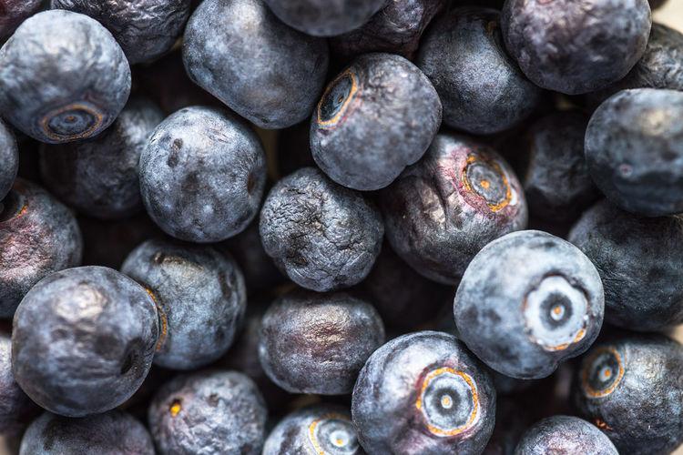 Full frame shot of huckleberries