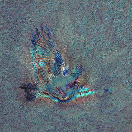 It is not only fine feathers that make fine birds. • Aesop NEM Painterly Backyard Birder Birds Turquoise By Motorola