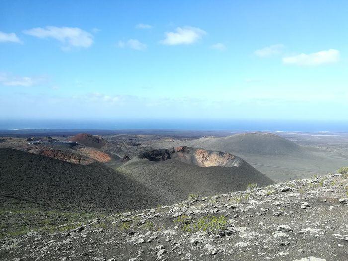 Volcano Volcanic Landscape Volcanic Crater Volcanoes Chain Of Volcanoes Hostile Environment Sky Landscape Cloud - Sky Depression - Land Feature