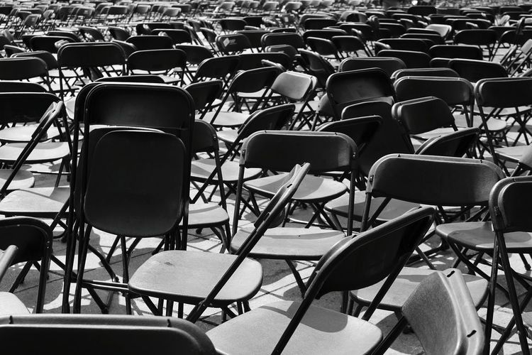 Full Frame Shot Of Chairs