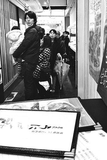 Cute Man Tsukiji Tokyo Japan Travel Photography Streetphotography Black & White