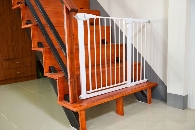 View of staircase at home