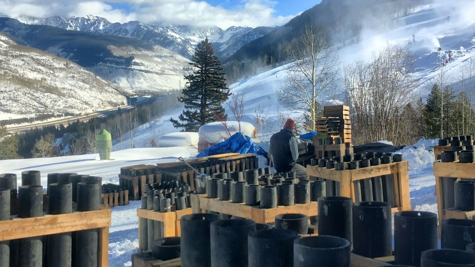 Snow Mountain Adults Only Industry Men Cold Temperature Winter Only Men Two People Adult People Working Occupation Outdoors Day Fireworks Cloud - Sky Weather