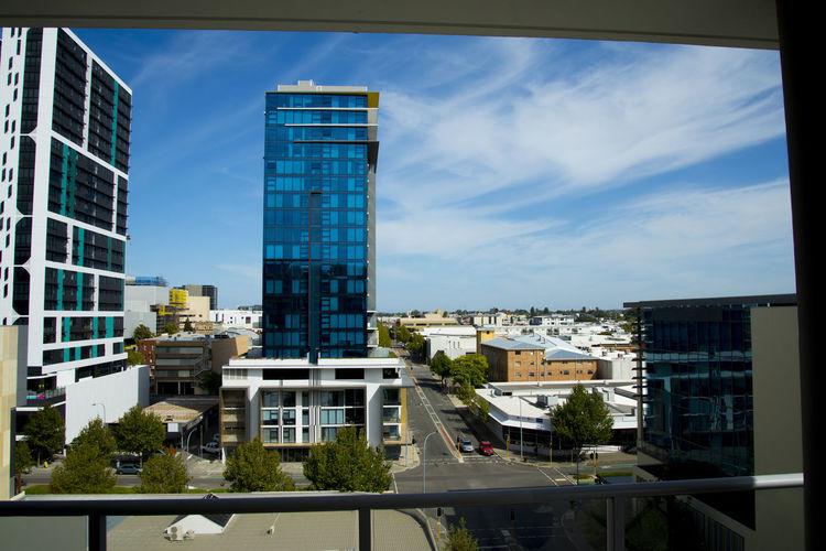 Luxury Apartments Perth Australia City Apartment Balcony Skyscraper Reflection