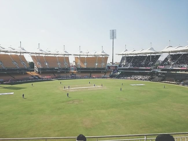 A view from my seat at MA Chidambaram stadium IndVSA First Eyeem Photo