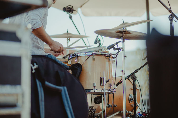 Drum Drummer Music Arts Culture And Entertainment Concert Concert Photography Cymbal Day Drum Drum - Percussion Instrument Drum Kit Drummer Drums Drumstick Men Music Musical Instrument Musician One Person People Playing Real People Recording Studio Sitting Skill  Modern Workplace Culture Analogue Sound