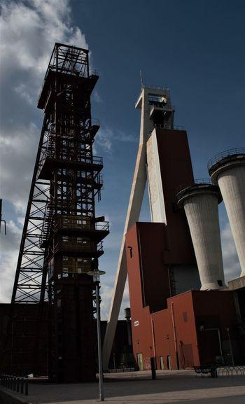 Industriedenkmal Schlägel & Eisen 3/4/7 Industry No People Schachtgerüste Mit Grubenlüfter