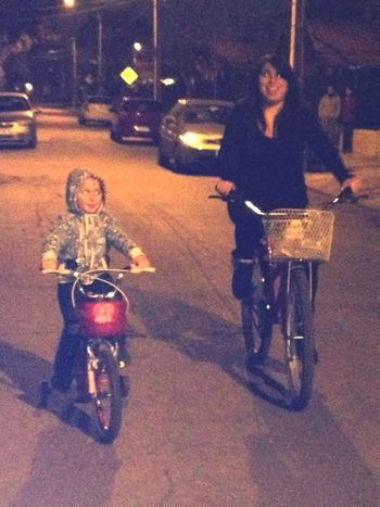 Bicicleta Mi Hija Y Yo  Invierno Chile