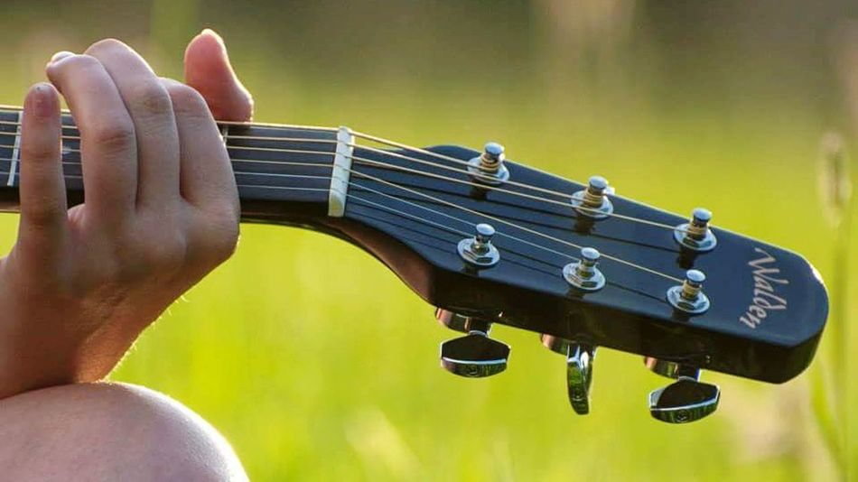 Music Human Body Part Arts Culture And Entertainment One Person Close-up Outdoors Musical Instrument Musician Guitar Love Walden