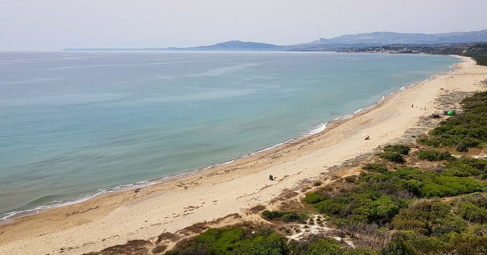 Agrigento Panoramic Photography Panoramic Landscape Agrigento Sicily Sand Dune Water Sea Beach Sand Horizon Sky Horizon Over Water Landscape