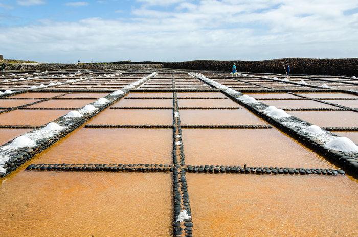 Brown Cloud - Sky Cloudy Diminishing Perspective Fuerteventura In A Row Las Salinas Museo De La Sal Pattern Puerto Del Carmen Sky