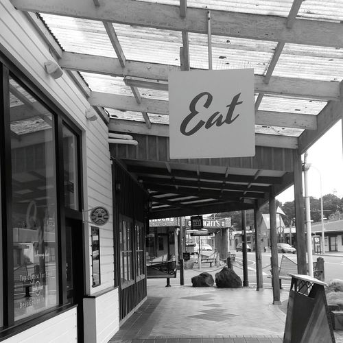 Cafe New Zealand Mountain Town Eat Food Street Amateurphotography Blackandwhite Monochrome Town Building Exterior Ownphotography Charming Outdoors Mount Ruapehu Tourist Shops Small Town