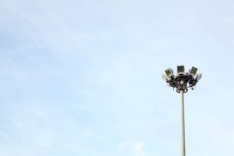 Blue Copy Space Day Floodlight Low Angle View Nature No People Outdoors Sky Stadium