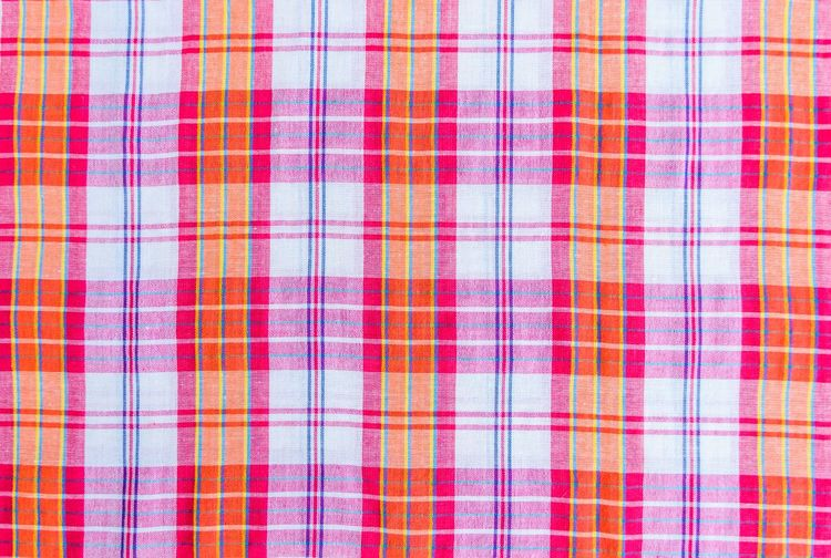 Full frame shot of plaid pattern fabric