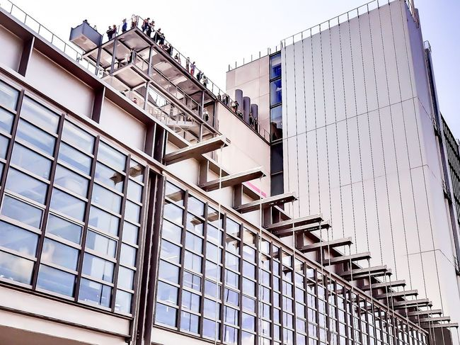 Architecture Architectural Detail Urban Geometry Check This Out Taking Photos Urbanexploration NYC Sky The Architect - 2015 EyeEm Awards at the opening of the Whitney Museum .