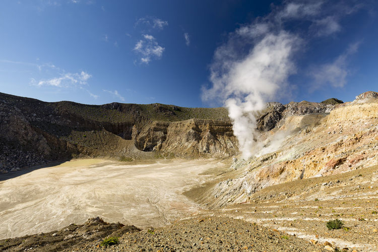 Caldera INDONESIA Morning Nature Crater East Nusa Tenggara Egon Eruption Flores Geology Gunung Hike Hydrothermal Activity Island Maumere Mount Egon Nangatobong Stratovolcano Sulfer Sulphur Trek Vent Volcanic  Volcanic Landscape Volcano