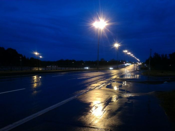 Night Illuminated Reflection Night Lights Rainy Night Night Road Rainy Road Rain No Edits No Filters Cloudy Sky