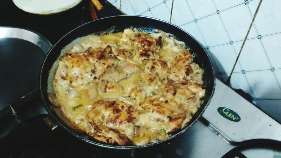 Just prepared the delicious lemon chicken