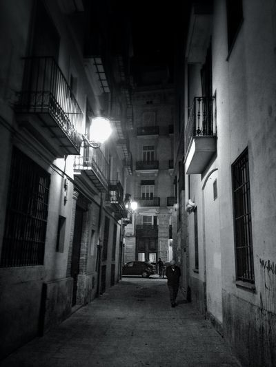 Black & White Valencia, Spain Back Alley