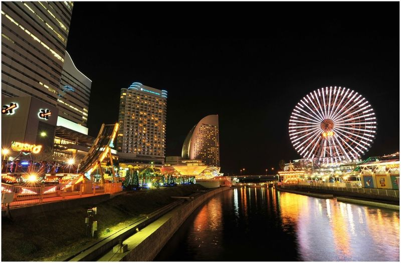In Yokohama , with tripod. Parameters: iso 200 - f/13 - 18mm - 5s EyeEm Best Shots - Long Exposure GetYourGuide Cityscapes EyeEm Best Shots - Night Photography The Architect - 2015 EyeEm Awards