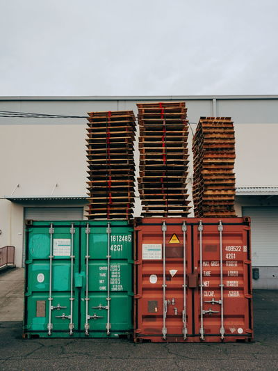 Stack Industry No People Outdoors Day Corrugated Metal Contrasting Color Urban Geometry Portland North Portland Portland, OR