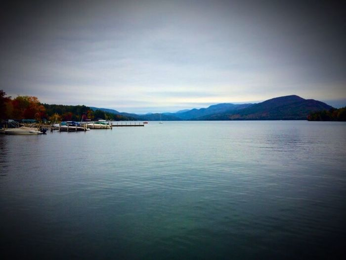 The lake at rest today... First Eyeem Photo IPhoneography Lake Mountains