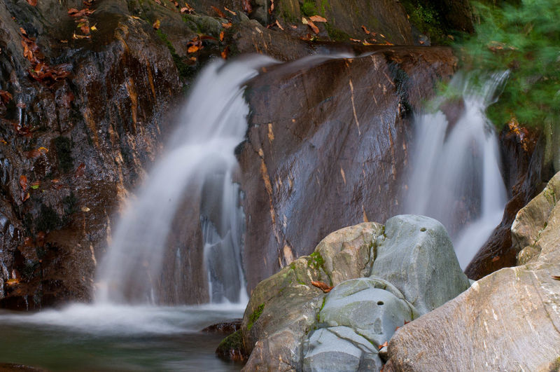 Beauty In Nature Blurred Motion Day Falling Water Flowing Flowing Water Forest Land Long Exposure Motion Nature No People Outdoors Power Power In Nature Rock Rock - Object Rock Formation Scenics - Nature Solid Water Waterfall