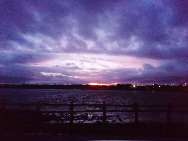 Purple Purple Sunset Burtonwood Scenic Cloud - Sky Scenics No People Nature Outdoors Sky Water Beauty In Nature Night Landscape Illuminated Sunset